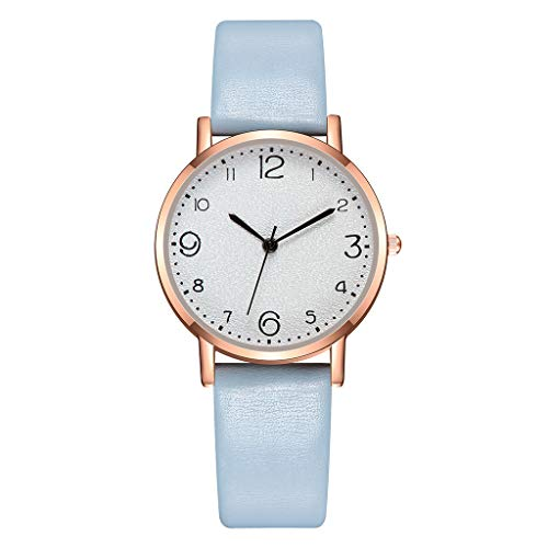YueLove Damenmode Retro Uhren, Leder analoge Quarzuhr für Damen, schönes Design Kleid Casual Classic Armbanduhr