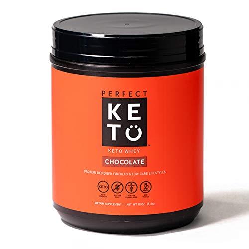 Perfect Keto Pure Whey Protein Powder Isolate | Delicious 100% Grass Fed Whey | No Artificials, Gluten Free, Soy Free, Non-GMO (Chocolate)