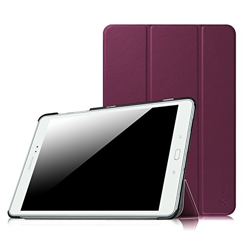 Fintie Hülle für Samsung Galaxy Tab A 9.7 ZollT550N / T555N Tablet-PC - Ultra Schlank Superleicht Ständer SlimShell Cover Schutzhülle Etui mit Auto Schlaf/Wach Funktion, Lila