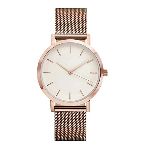 Sunnywill Damen Schöne Mode Kristall Edelstahl Analoge Quarz Armbanduhr Uhr