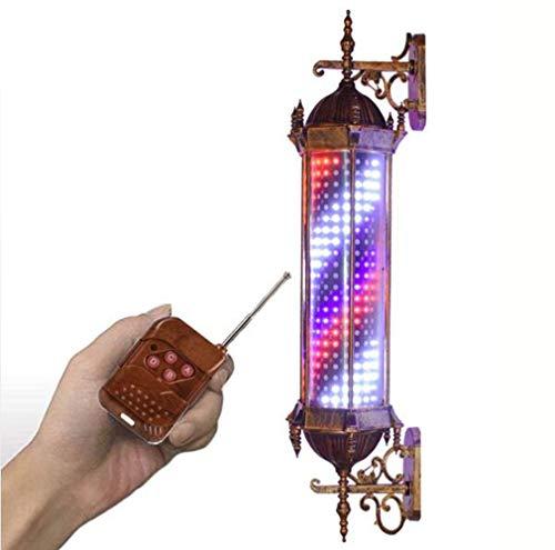 HOLY Barbierstab Leuchtkugel Led Barber Pole Friseur Salon Licht Schild Traditional Weiß Blau Beleuchtende Rotierende Streifen Mit Led-Zeichen Licht Mauer Lampe A/B / 70cm/28in