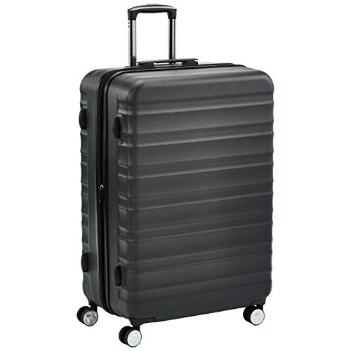 Amazon Basics Premium Hardside Spinner Suitcase Luggage with Wheels - 28-Inch, Grey