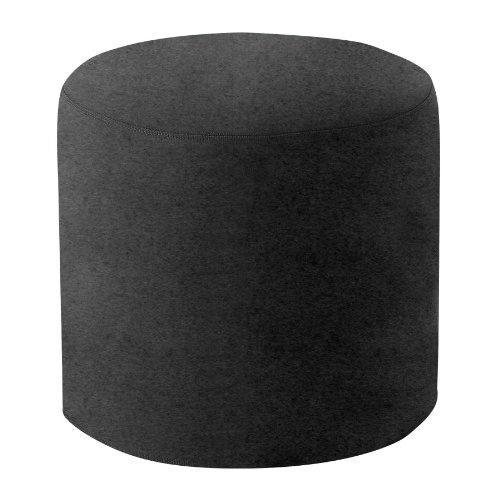 Drum Hocker/Beistelltisch M, schwarz Stoff Felt 636 H 40cm Ø 45cm