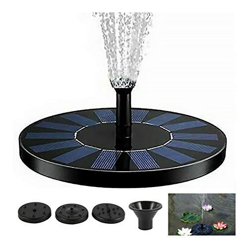 MINGMIN-DZ Dauerhaft Mini-Sonnenenergie-Wasser-Brunnen-Garten Pool Pond 30-45cm im Freien Sonnenkollektor Vogel-Bad Schwimmwasser-Brunnen-Pumpen-Garten-Dekor (Color : No Light)