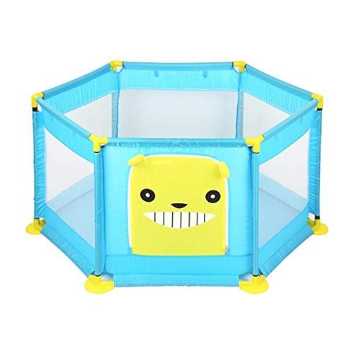 JFFFFWI Portable Baby Playpen Kids Room Decor Mesh Haute densité Facile à Assembler Clôture bébé Espace de Jeu intérieur et extérieur Taille Rose/Bleu