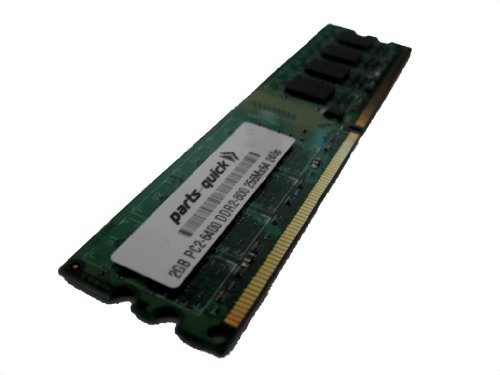 2GB Memory for HP Pavilion p6234f DDR2 PC2-6400 800MHz DIMM NON-ECC RAM Upgrade (PARTS-QUICK BRAND)