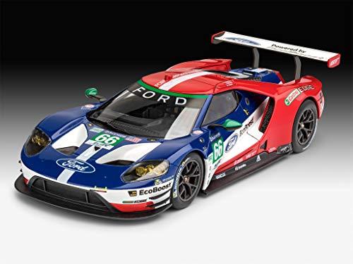 Revell RV07041 2017 zum Selberbauen, Automodellbausatz, 20,4cm 12 Modellbausatz Ford GT-Le Mans im Maßstab 1:24, Level 4, Multicolour