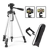 Trípode Trípode de cámara 50-140cm DSLR Soporte portátil Flexible para Canon Nikon Sony con Clip de teléfono con 1/4 Tornillo (Color : Silver)