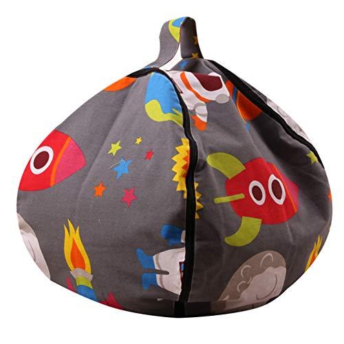 Rocita - Bolsa de Almacenamiento para Juguetes de Peluche para niños, tamaño Grande, con Relleno de Animales, para Guardar pufs, Silla de 45 cm
