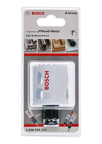 Bosch Professional Lochsäge Progressor for Wood & Metal (Holz und Metall, Ø 43 mm, Zubehör Bohrmaschine)