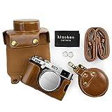 kinokoo Funda de cuero para PU para Fuji X100F y lente de 23 mm Bolsa protectora para cámara (marrón)