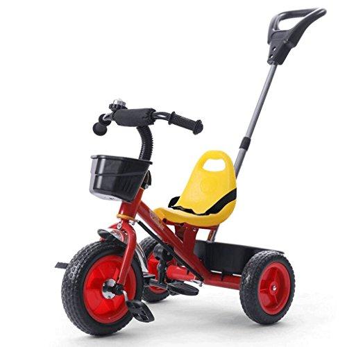 Cadeaux pour Enfants Tricycles Bicyclettes Baby Pushcart Baby Carriage GAOLILI (Couleur : Rouge)
