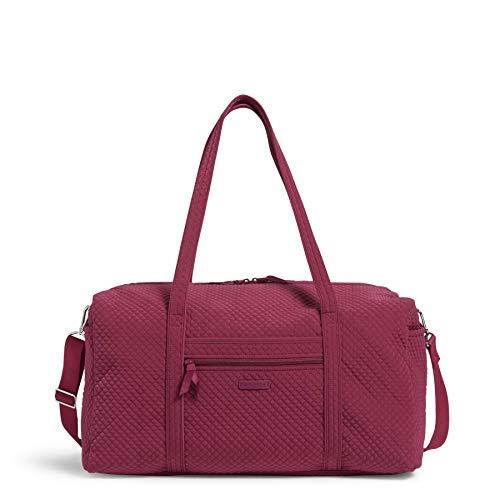 Vera Bradley Women's Microfiber Large Travel Duffle Bag, Raspberry...