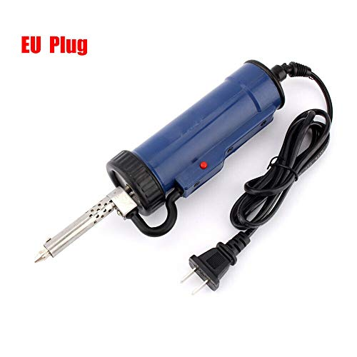 220 V 30 W 50 Hz Pompe à ventouse automatique étain, électrique Pistolet à dessouder, outil de dessouder, réparation de pompe (bleu)
