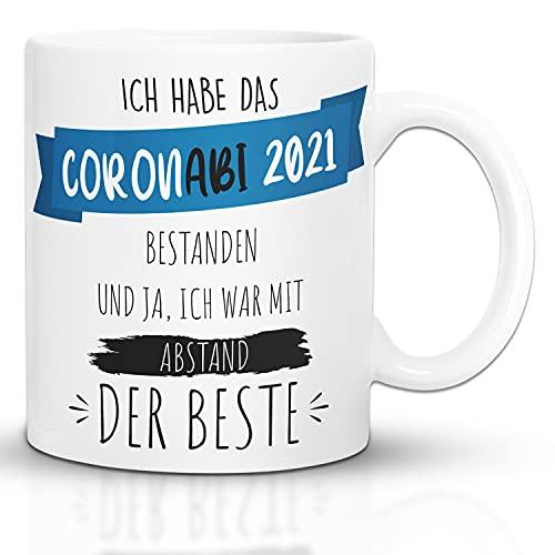 Kaffeebecher24 - Tasse Abitur 2021 - Spülmaschinenfest - Geschenke für Abiturienten - Tasse lustig mit Spruch - Geschenke zum ABI