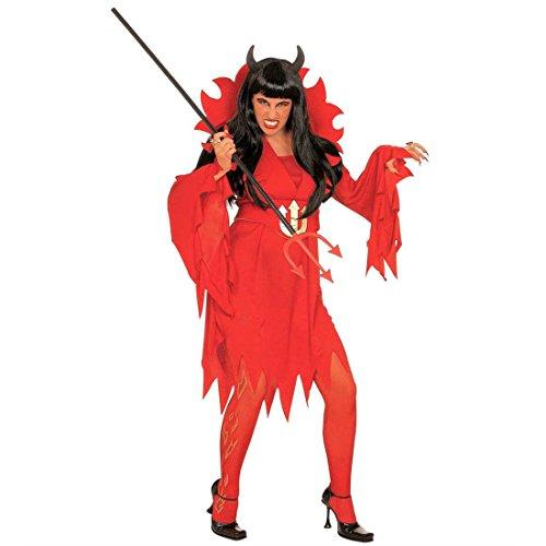 Amakando - Disfraz de Madame Le Diablesse Vamp novia de Satan Traje diablico Infer Mardi Gras Halloween
