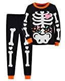 Little Hand Toddler Boys Girls Pajamas Glow-in-The-Dark Skeleton Sleepwear Halloween Outfit for 4T 5T