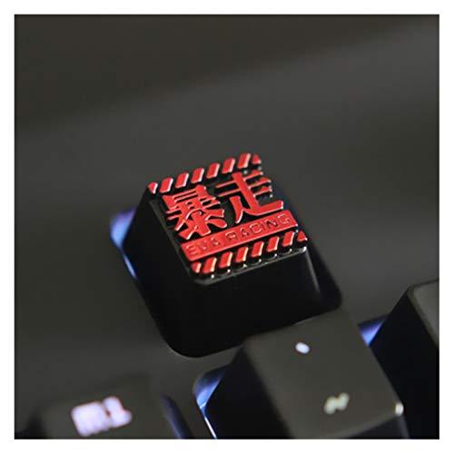 Conjunto de Llaves 1pc KeyCaps Personalizado en Relieve en Relieve de Aluminio metálico de Metal Teclado mecánico R4 Altura Botones Teclado keycaps (Color : 5)