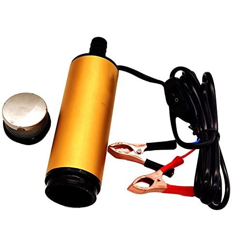 F Fityle Bomba de agua, bomba de combustible de aleación de aluminio con clip (nunca la usa para extraer gasolina o alcohol) multiusos para barco diésel - 12V 51mm