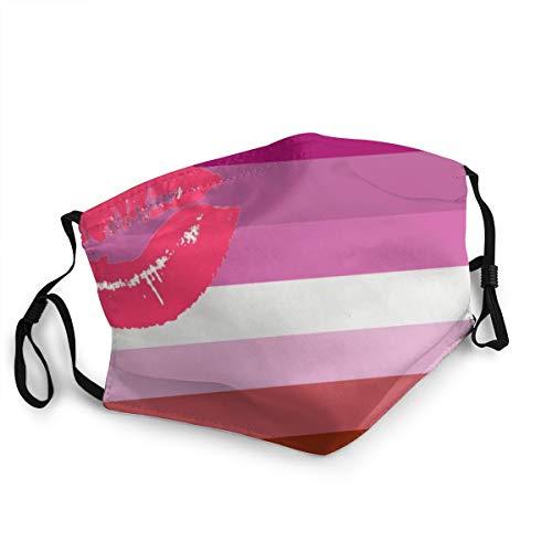 Lesbian Flag Lipstick Cute Face Mask, Cold Mask, Dust Mask, Fashion Mask