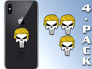 American Vinyl 4-Pack Small Punisher with Trump Hair Stickers (Cell Laptop pro Donald Military)
