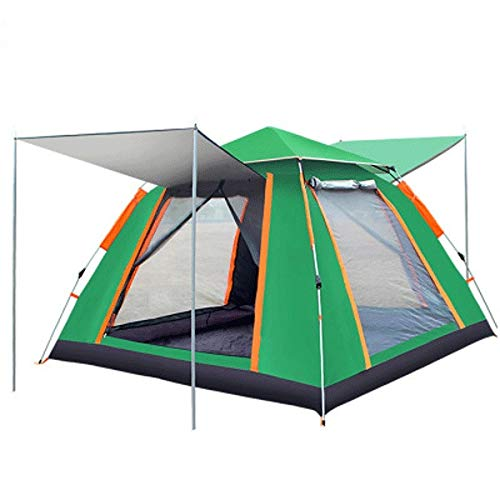 Cyiflg-yi Lopad-tent Family Camping Tent Large Waterproof Pop Up Tents 5-8 Person Room Cabin Tent Instant Setup with Sun Shade Automatic Aluminum Pole (Color : Green)