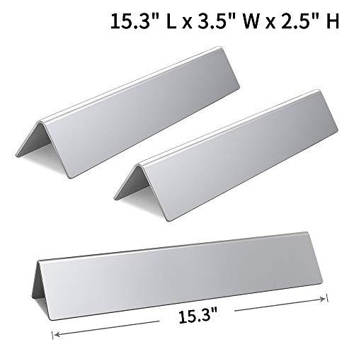 SHINESTAR 15.3 inch Rustproof Flavorizer Bars for Weber Spirit 200Series (2013-2017), Stainless Steel, 7635