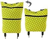 Syxfckc Ventiladores de bicicleta de montaña bolsa de la compra carritos de la compra plegable de la moda tiendas de comestibles que llevan, los hombres impermeables ligeros pequeños y mujeres seguras