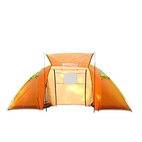 CATRP Marque Tente de Camping extérieure Manuelle 4 Personnes, imperméable et Anti-moustiques, Orange