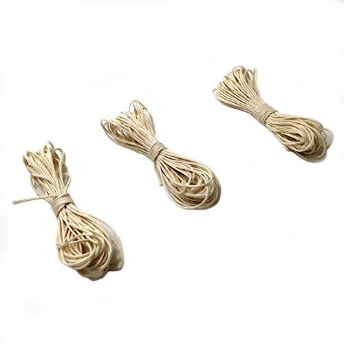Coskiss Rope DIY 5 Strands Piercings Twisted coton ciré Cord chaîne Thread Ligne 2mm X 5 Mètres (Couleur bois 5pcs)