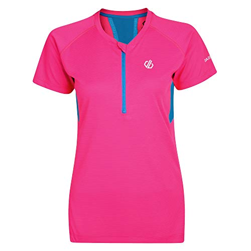Dare 2b Jersey Maillot de Sport léger Femme Tribe, Cyber Pink, FR : M (Taille Fabricant : 12)