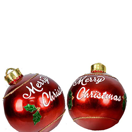 Giant Commercial Inflatable Merry Christmas Ball Ornament, 23.6inch Huge Balloon for Christmas Yard Decoration, Indoor&Outdoor Lawn Décor,Christmas Tree Decoration (2pcs)