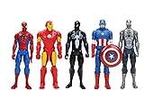 YUNNING Juguetes Vengadores 5pcs/Lote 30cm Los Vengadores Super Héroe Spider-Hombre Spider Hombre Thor Iron Man Capitán América Acción Figura Móvil Modelo Juguete