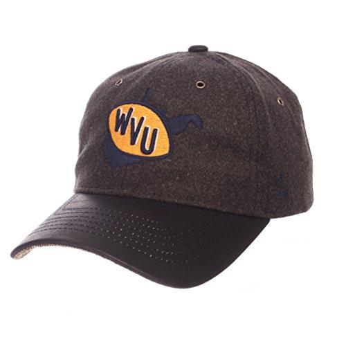 NCAA Zephyr West Virginia Mountaineers Mens Alum Heritage Collection Hat, Adjustable, Heather Gray