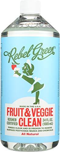 Rebel Green Cleaner Refill Fruit and Veggie, 34 Fl Oz