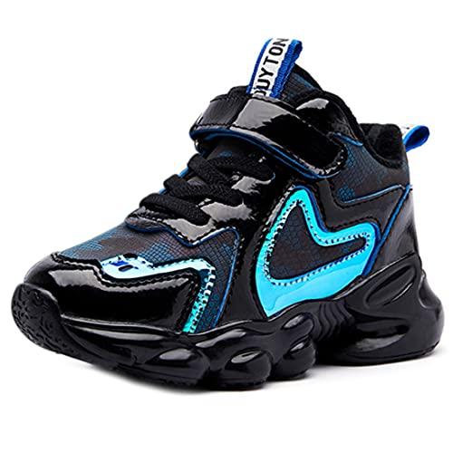 ZOSYNS Zapatos de algodón para niña, cálidos, para invierno, color negro, deportivos, caminar, al aire libre, planos, para niños, 26 – 37, color, talla 27 EU