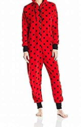 Totally Pink Women's Plush Specialty Lady Bug Onesie