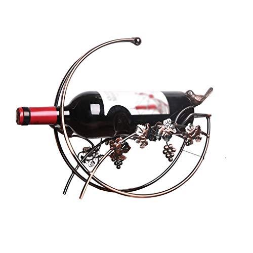 CAIJINJIN estante del vino Estante del vino del hierro creativo del estante Decoración titular de la botella Bandeja soporte del hogar 30 x 12 x 27 cm, Vino Bastidores inserte la parrilla for el vino