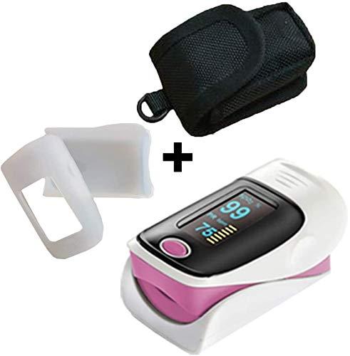 MKKSLR Pulsoximeter, Case Plus, Farbe Fingerspitzen-Pulsoximetro Oxymeter Ossimetro Pulsoximeter SPO2 PR Oximetro Monitor 6 Display-Modi (Farbe: Grau), rose