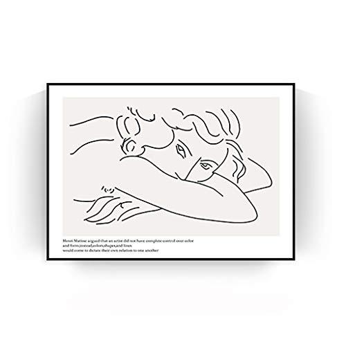 MAKEMONEYANDLOVE Moderne Verzierte Leinwand Bilder Berühmte Ölgemälde-Segeltuch-Wand-Kunst,40×60cm
