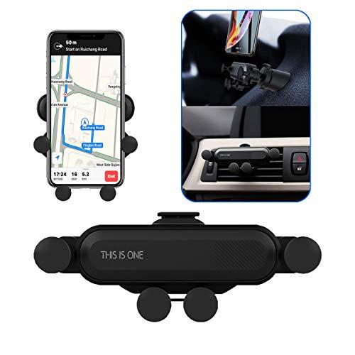 Supporto Auto Smartphone 360 Gradi di Rotazione, Universale Supporto Auto Regolabile Porta Cellulare da Auto per iPhone X XR XS Max 6/7/8 Plus, Samsung, Huawei, GPS (Nero)