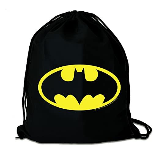 Logoshirt® - DC Comics - Batman - Logo - Mochila Saco - Bolsa - Negro - Diseño Original con Licencia