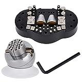 Herramienta de grabado de tornillo de banco de bola, herramienta profesional de tornillo de banco de bola, herramientas de procesamiento de joyas, para un ajuste de joyería adecuado para el