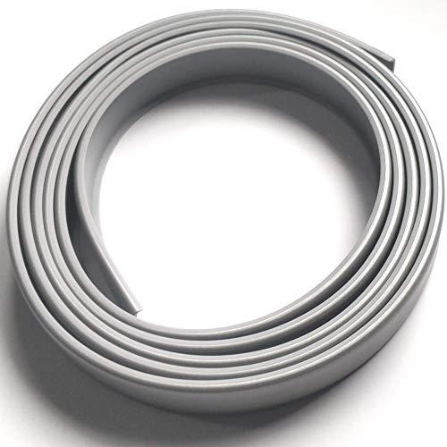 2A16 Cubrecanto de plástico flexible en U (umolding) (16 mm., ALUMINIO). Tira de 2 metros.
