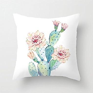 Aremazing Succulent Plant Cactus Super Soft Throw Pillow Case Cushion Cover Home Decor 16 X 16 Inches (Cactus Flower)