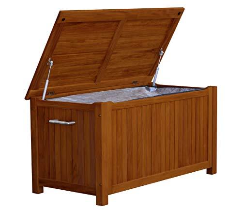 Dehner Aufbewahrungsbox Samoa, ca. 120 x 60 x 60 cm, FSC® Akazienholz/Edelstahl, braun