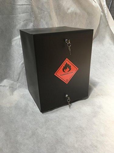 Gas box uk 907 caja de seguridad sellada para botella de gas, cerradura, armario para camping, autocaravana, etc.