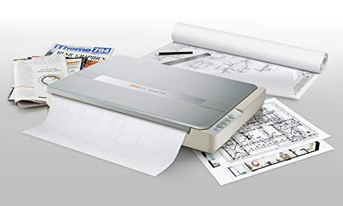 Plustek A3 Flatbed Scanner OS 1180 : 11.7x17 Large Format scan Size for Blueprints and Document. Design for Library, School and Soho. A3 scan for 9 sec, Support Mac and PC (Renewed)