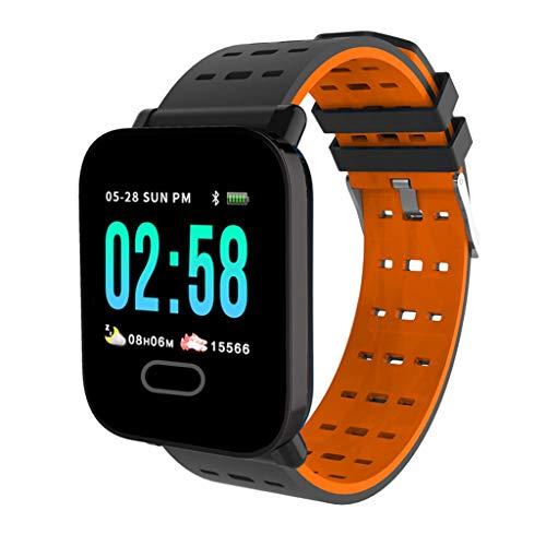 Monitores de actividad Reloj inteligente, rastreador de fitness con monitor de frecuencia cardíaca, rastreador de actividades con pantalla de 1.3 ', podómetro impermeable con monitor de sueño for muje