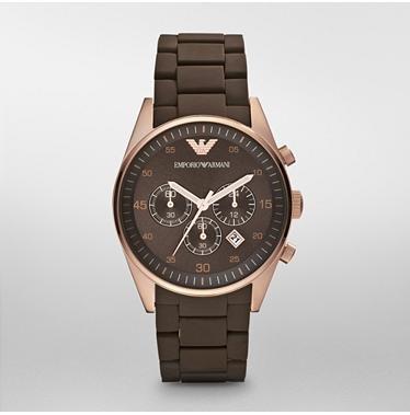 Emporio Armani AR5890 - Reloj cronógrafo Deportivo para Hombre, Color marrón